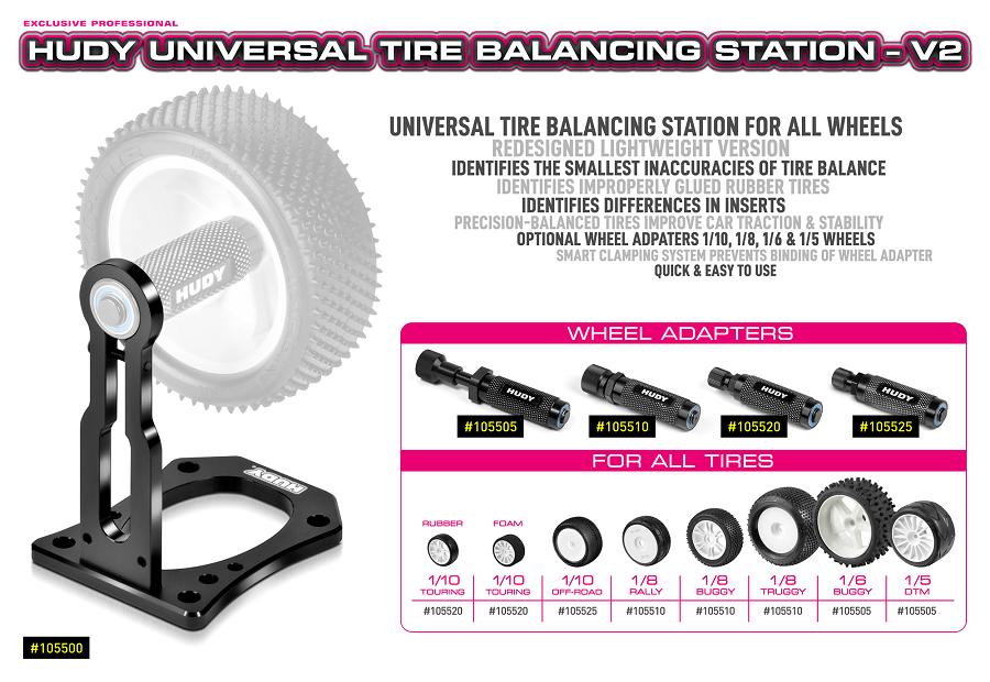 HUDY V2 Universal Tire Balancing Station