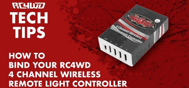 How To Bind Your RC4WD 4 Channel Wireless Remote Light Controller [VIDEO]
