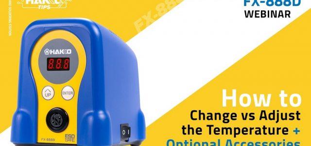 How To Change VS Adjust The Hakko FX-888D Soldering Temperature [VIDEO]