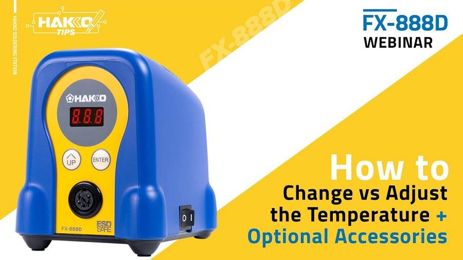 How To Change VS Adjust The Hakko FX-888D Soldering Temperature