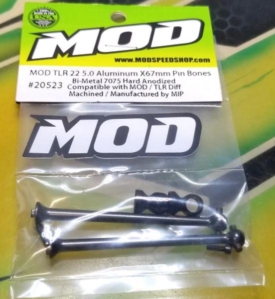 MOD Aluminum X67mm Pin Bones For The TLR 22 5.0 Elite