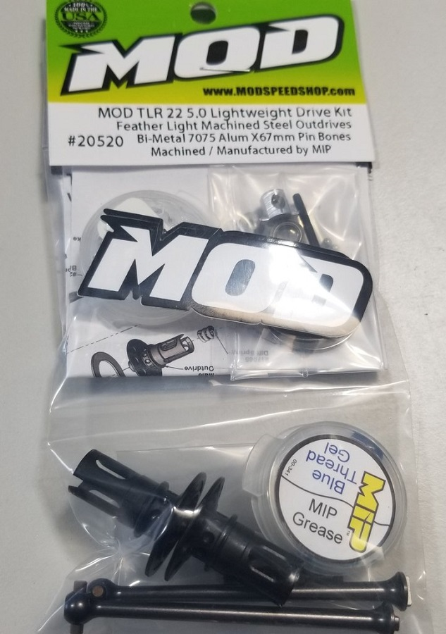 MOD TLR 22 5.0 Elite Feather Weight Ball Diff & X67mm Aluminum Pin Bone Kit