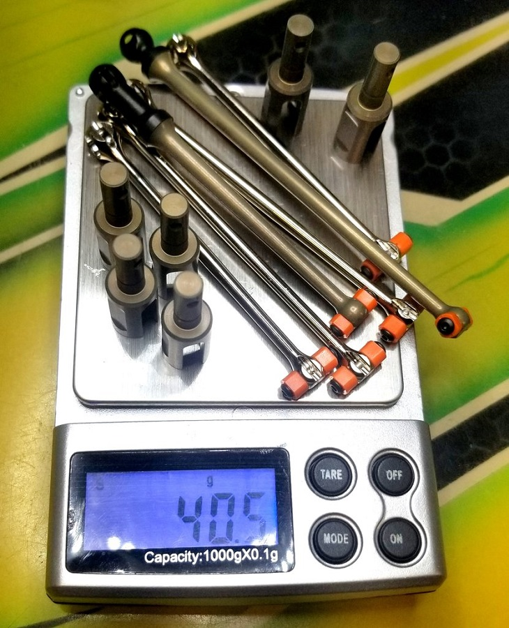 MOD TLR 22X-4 Bi-Metal Aluminum Skinny Bone Puck Kit