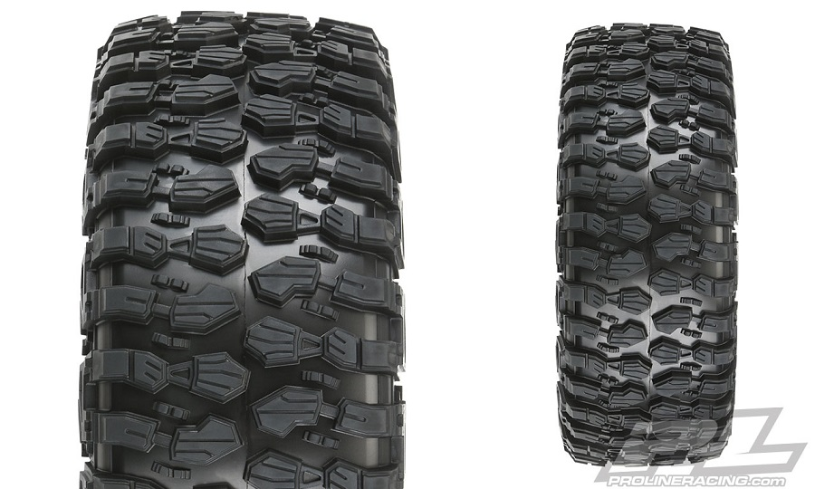 """Pro-Line Hyrax XL 2.9"""" All Terrain Tires For The Losi Super Rock Rey"""