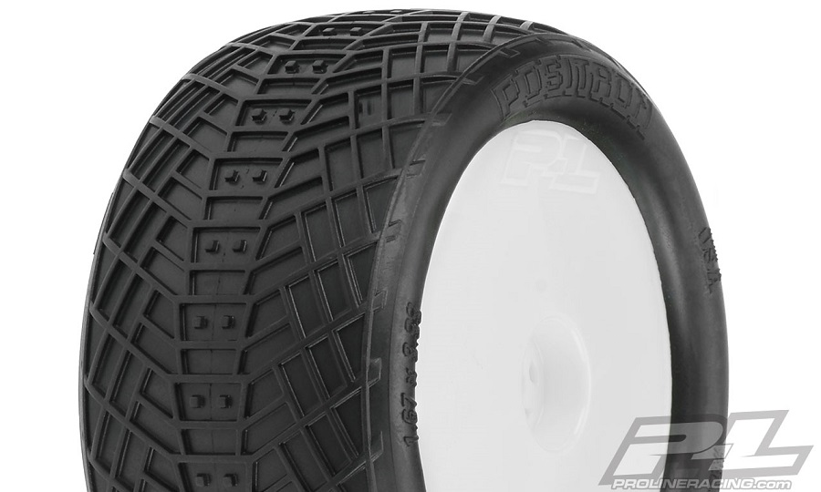 "Pro-Line Pre-Mounted Positron Rear 2.2"" MC Tires On Velocity Wheels"