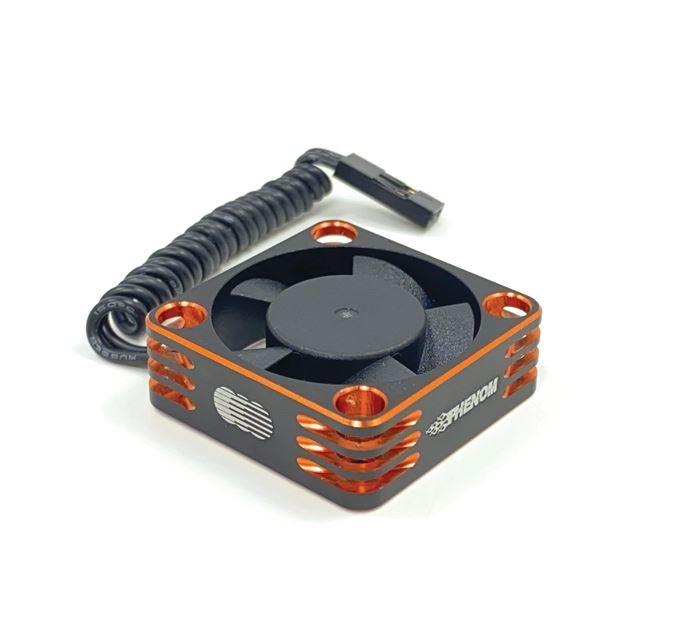 Trinity Phenom Orange Aluminum 3030mm Ball Bearing Fan