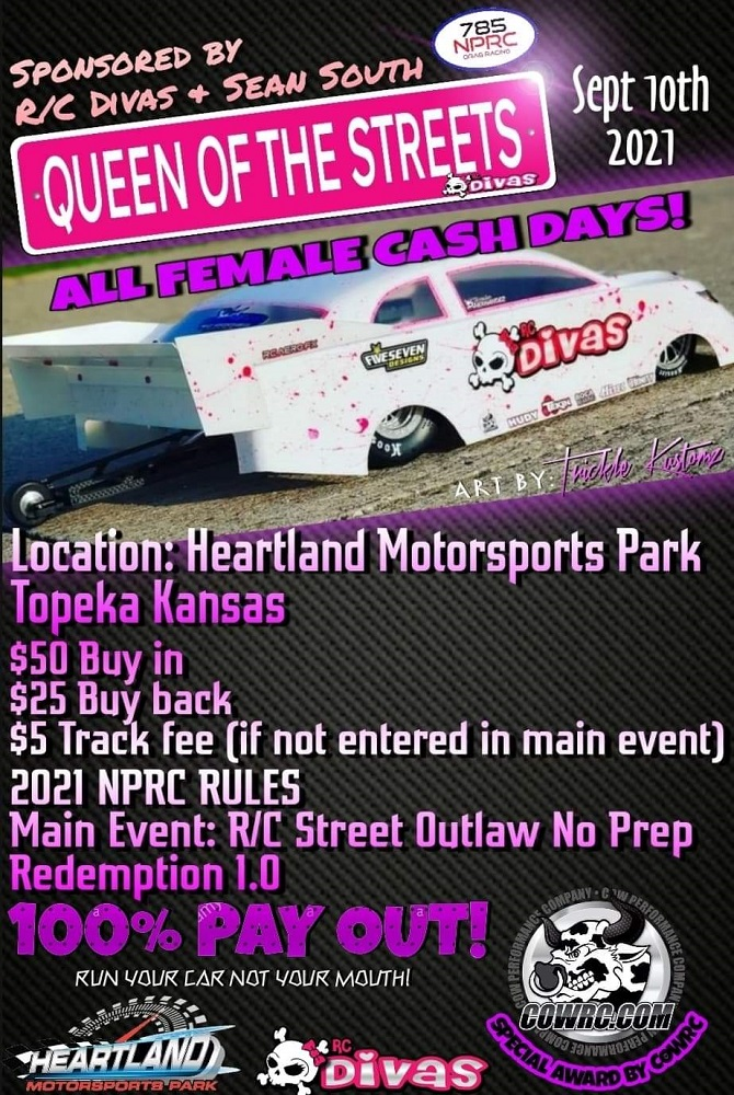 Queen Of The Streets All Female Cash NPRC Event - September 10-11th 2021