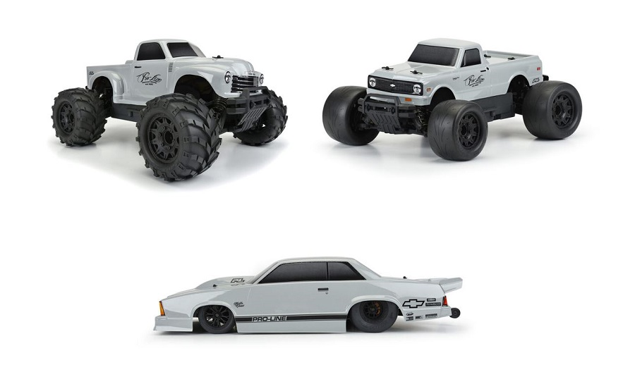 Pro-Line Tough-Color Stone Gray Polycarbonate Bodies
