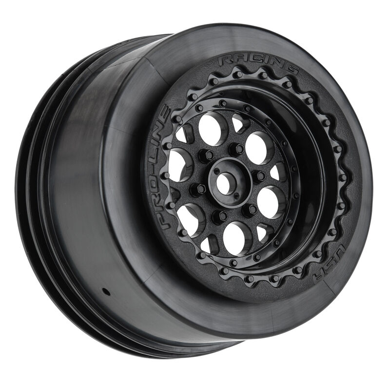 Pro-Line 1/10 Showtime+Wide Drag Black Wheels