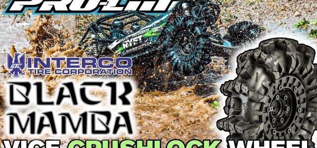 Pro-Line Interco Black Mamba 2.6″ Mud Terrain Tires & Vice CrushLock Removable Hex Bead-Loc Wheel [VIDEO]