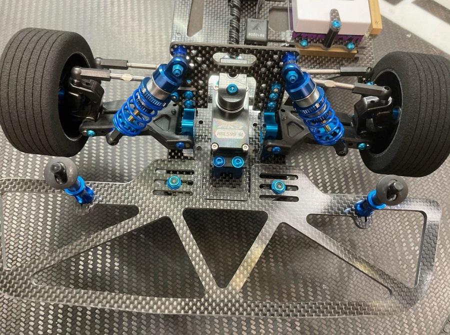 Assault RC Carbon Fiber Front Bumper For The Custom Works IntimidatorRocket 4 (2)