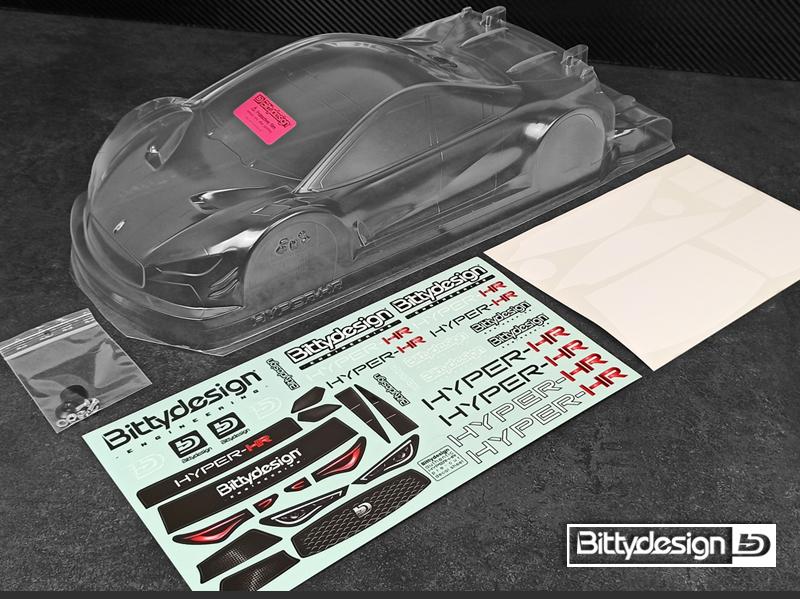 Bittydesign HYPER-HR 1/10 TC 190mm Clear Body