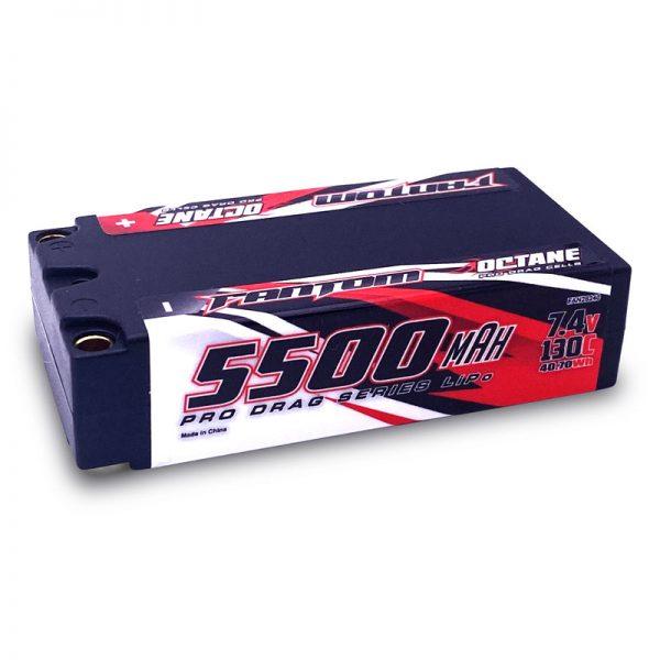 Fantom 5500mAh 130C 7.4v 2S OCTANE Pro Drag Series LiPo