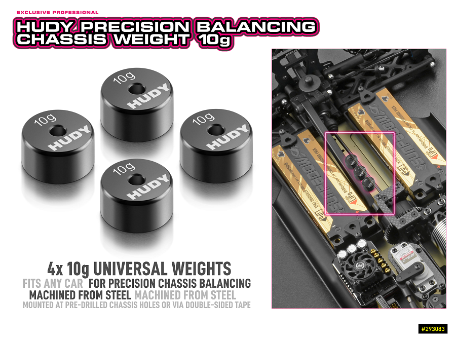 HUDY Precision Balancing Chassis Weight 10g