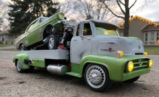 Call it the Boss – A Ground Up Custom  1954 Ford F100 COE Tow Rig