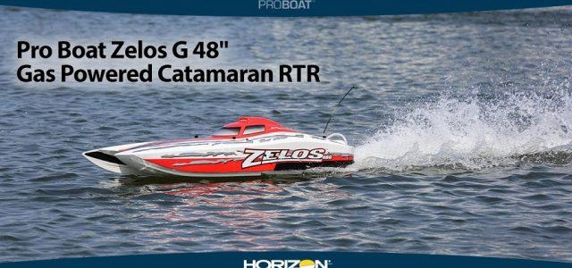 Pro Boat Zelos G 48″ Gas Powered Catamaran RTR [VIDEO]