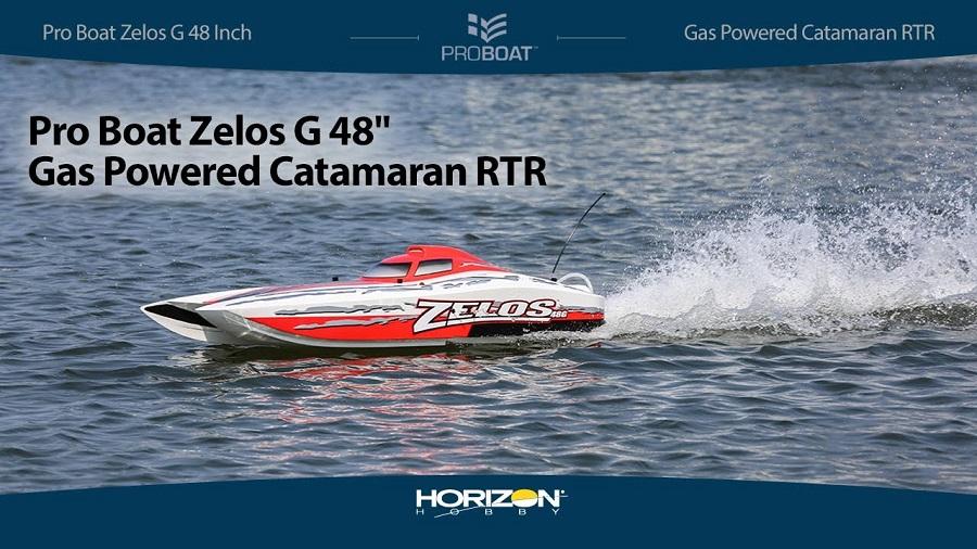 Pro Boat Zelos G 48 Gas Powered Catamaran RTR