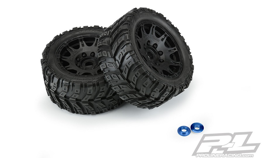 Pro-Line Mounted Masher X HP All Terrain Belted Tires