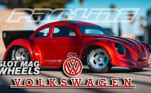 Pro-Line Volkswagen Drag Bug Clear Body & Slot Mag Drag Spec Wheels [VIDEO]