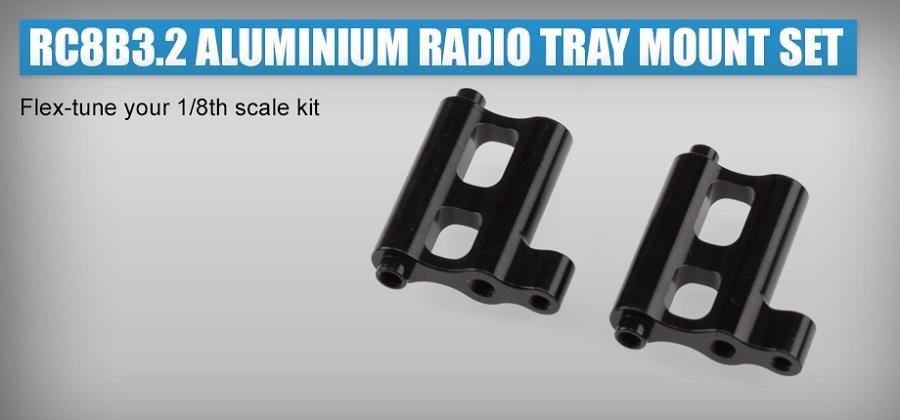RDRP RC8B3.2 Aluminium Radio Tray Mount Set