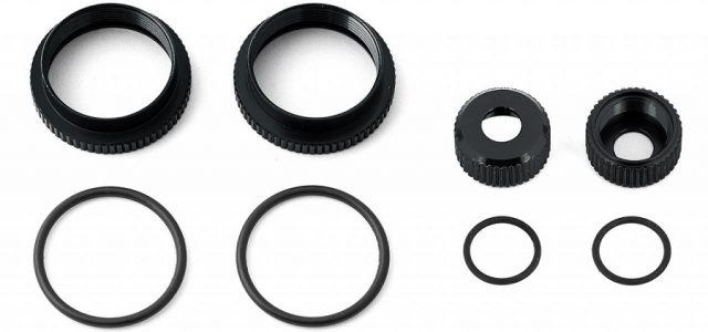 Team Associated 16mm Black Anodized Shock Parts For The RC8B3.2, RC8B3.2e, RC8T3.2 & RC8T3.2e