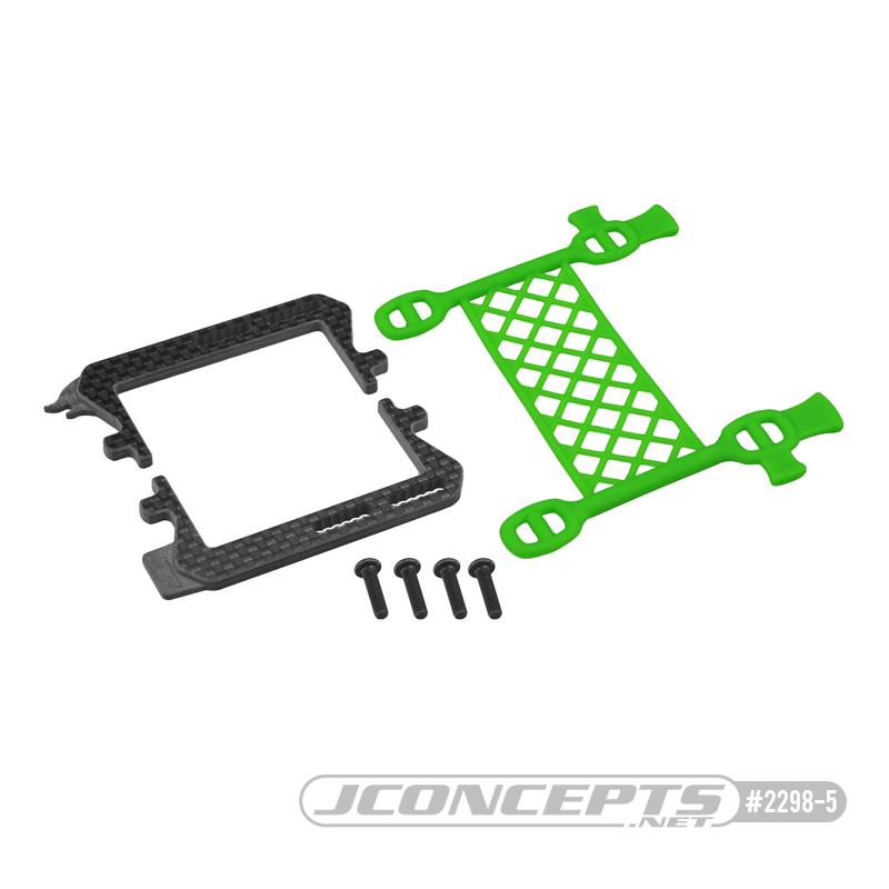 JConcepts Carbon Logo Cargo Net Battery Brace For The B6.3, T6.2 & SC6.2