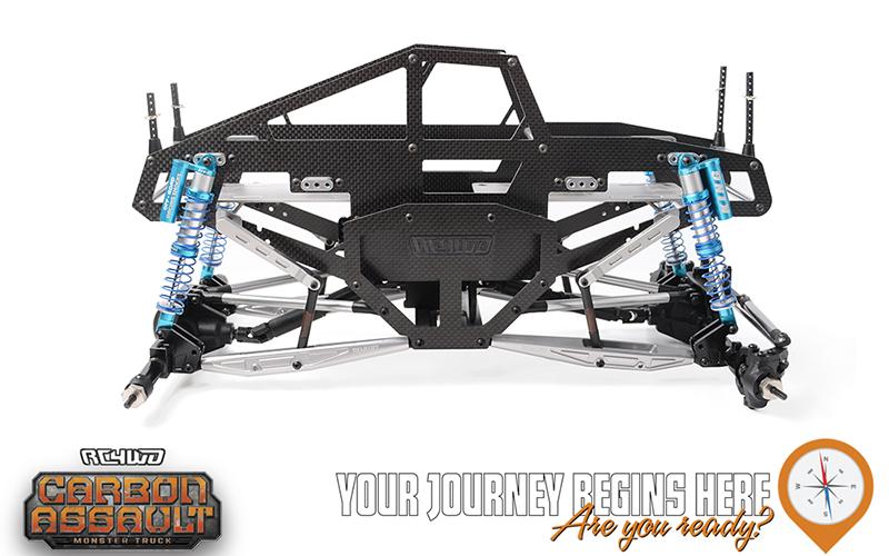 RC4WD Carbon Assault 110 Monster Truck Builder's Kit With Manticore Lexan Body Set