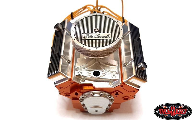 RC4WD Edelbrock 110 Scale V8 Motor Dress Up Kit By REC