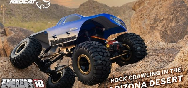 Redcat Everest-10 Rock Crawler In The Arizona Desert [VIDEO]