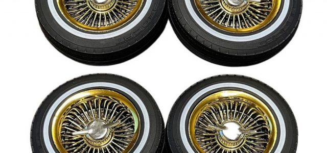 Redcat Whitewall Low Pro Tires & Gold Wheels