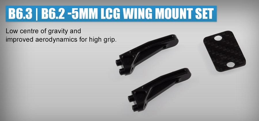 Revolution Design B6.3 & B6.2 -5mm LCG Wing Mount Set