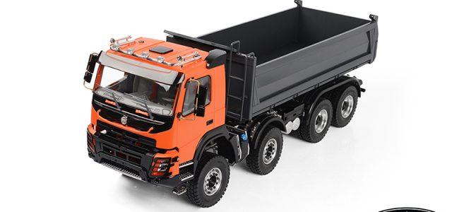 RC4WD 1/14 8×8 Armageddon Hydraulic Dump Truck (FMX) (Orange and Grey)