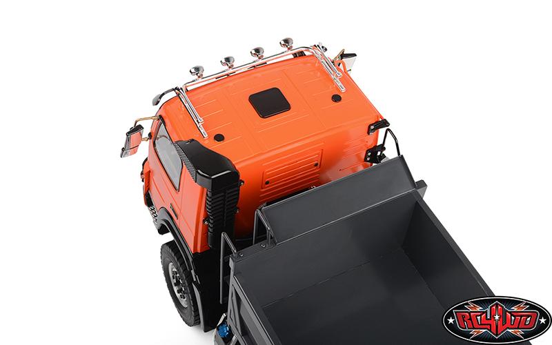 114 8x8 Armageddon Hydraulic Dump Truck (FMX) (Orange and Grey)