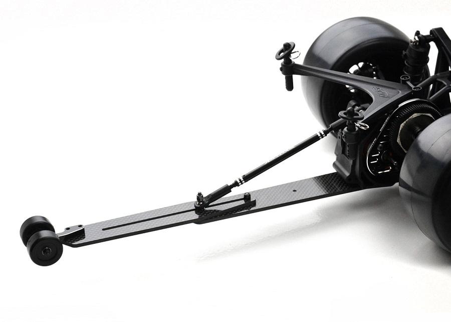 Exotek Carbon Fiber Flat Drag Wheelie Bar Set For The TLR 22S