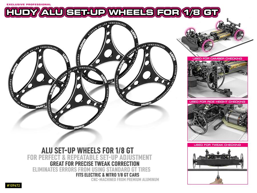 Hudy Aluminum Set-Up Wheel For 1/8 GT