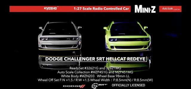 Kyosho Mini-Z AWD Dodge Challenger SRT Hellcat Redeye [VIDEO]