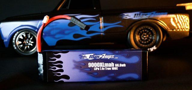 MaxAmps LiPo 9000XL 2S 7.4v Battery Pack For The Drag Slash [VIDEO]