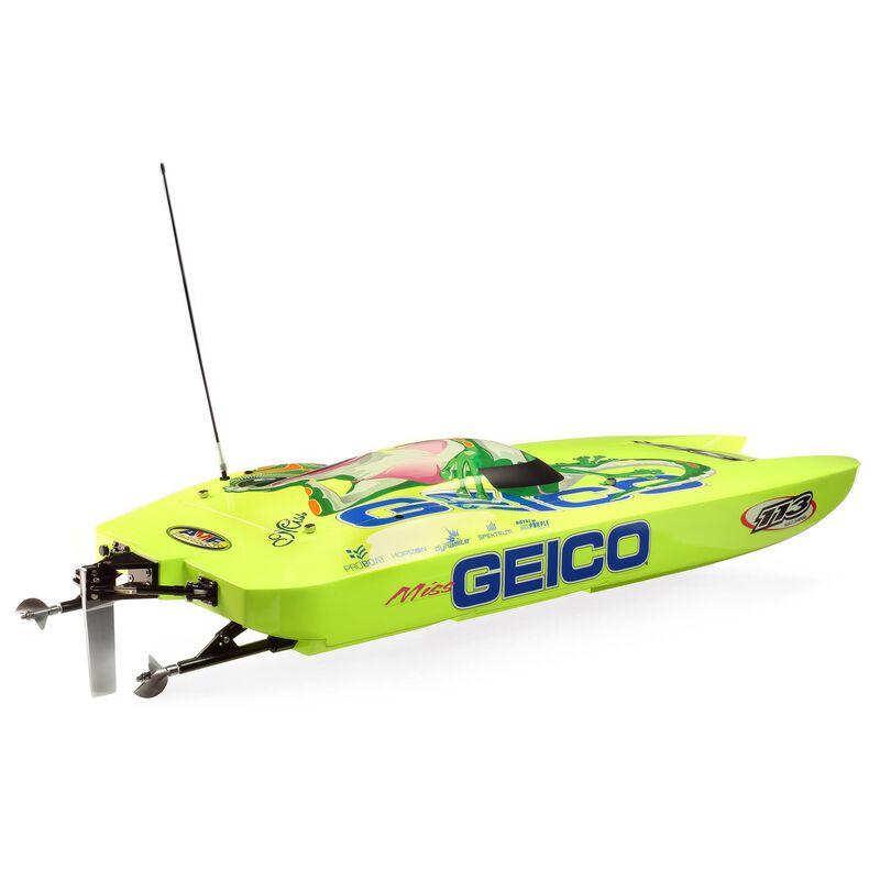 "Pro Boat Miss GEICO Zelos 36"" Twin Brushless Catamaran RTR"