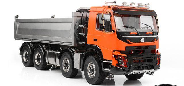 RC4WD 1/14 8×8 Armageddon Hydraulic Dump Truck (FMX) (Orange and Silver)