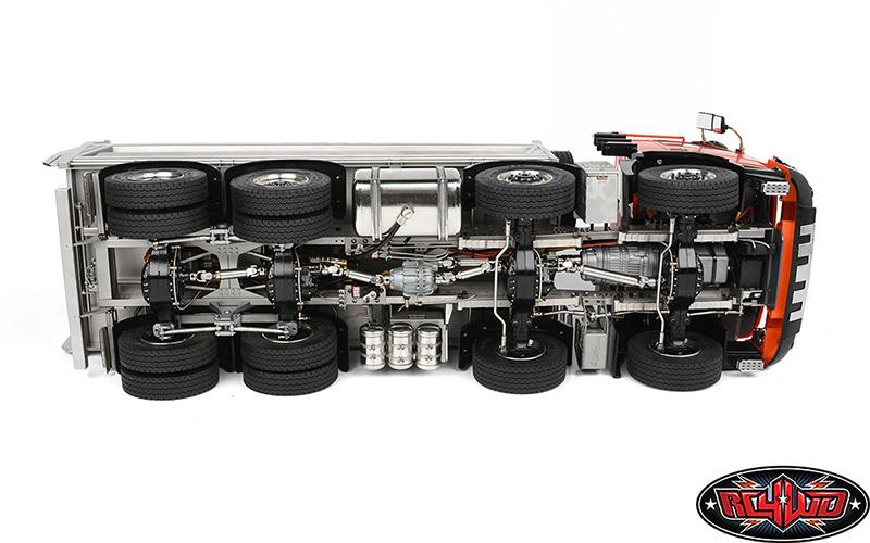 RC4WD 114 8x8 Armageddon Hydraulic Dump Truck (FMX) (Orange and Silver)