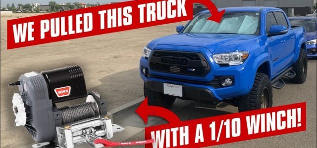 Watch The RC4WD Warn 1/10 8274 Winch Pull A Full Size Truck [VIDEO]