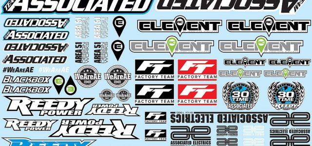 Associated Electronics Branding Decal Sheet
