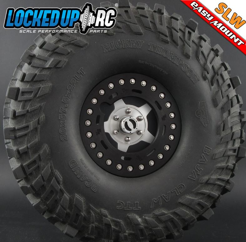 """Locked Up RC 2.2"""" TrailReady Rock Ring Engraved Black"""