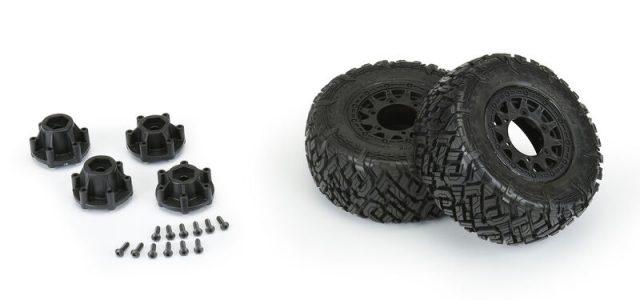 Pro-Line Icon SCT Mounted M2 Tires On Black Raid Wheels
