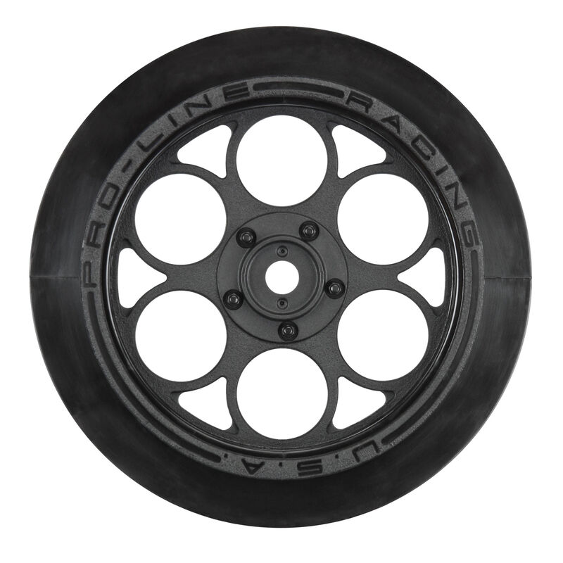 Pro-Line Showtime Front Runner 2.22.7 Black Front Drag Wheels