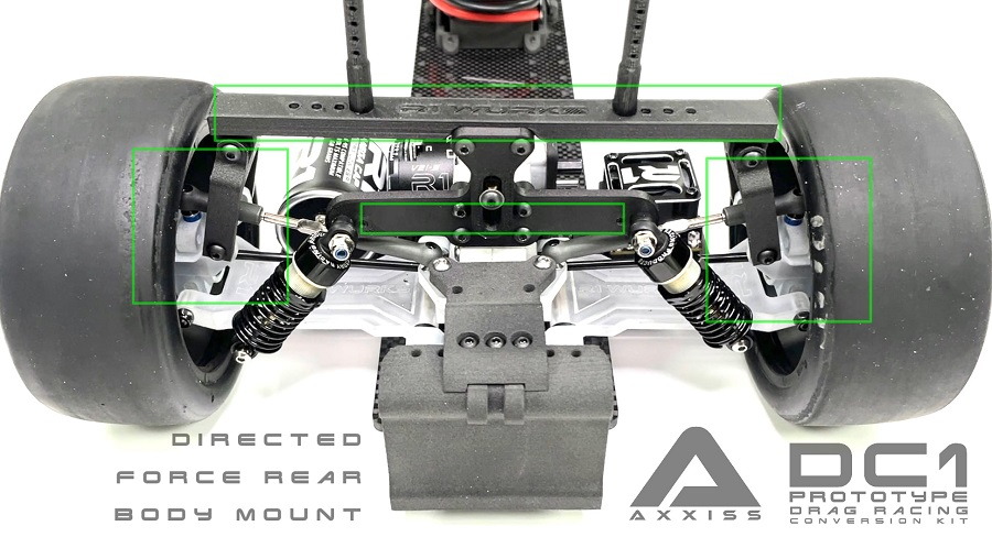 R1 Wurks AXXISS DC1 Prototype Drag Racing Conversion Kit