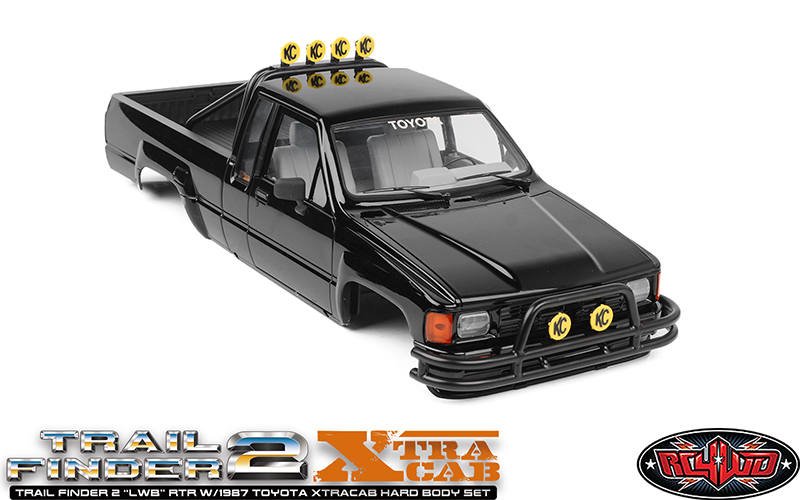 "RC4WD Trail Finder 2 ""LWB"" RTR With 1987 Toyota XtraCab Hard Body Set"