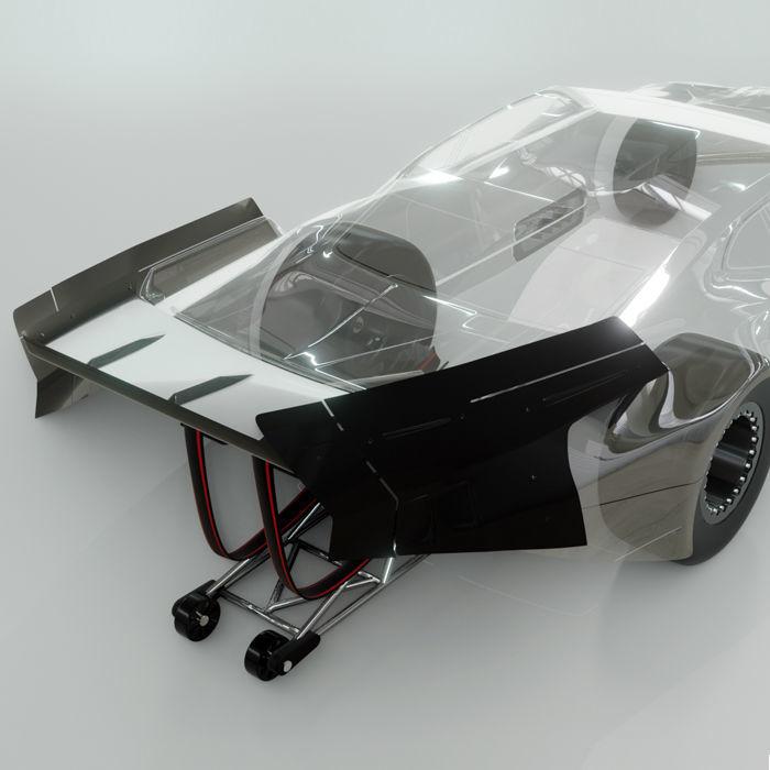 Bittydesign ZL21 1/10 No Prep Drag Racing Clear Body & Wing Set