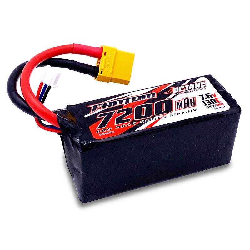 Fantom 7200mAh, 130C, 7.6v, 2-Cell, 2S3P, OCTANE Pro Drag Series LiPo-HV