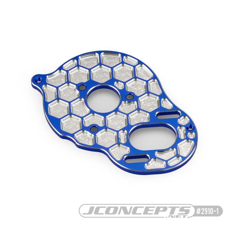 JConcepts Honeycomb Aluminum +2mm Motor Plate For The Team Associated DR10 & SR10
